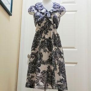 Adriana Papell silk paisley dress
